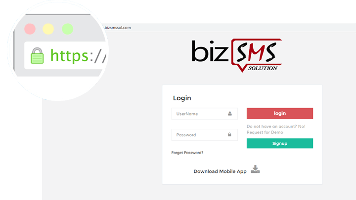 secure cloud sms portal